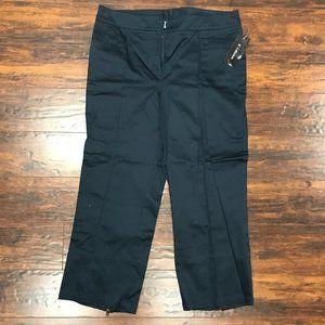 Vintage SC Collection black capris pants NWT